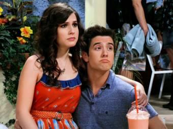 Logan y Erin quienes tienen una romance en la serie Big Time Rush