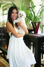 Brenda song y su perro