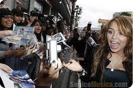 Miley y sus fans las Smilers