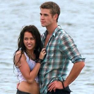 Miley Cirus y Liam Hatrshon