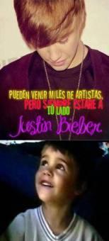 Pueden venir miles de artistas,pero siempre estare a tú lado Justin Bieber.