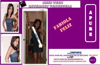 Miss Teen Internet Apure-Fabiola Feliz