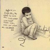 Su triste infancia :