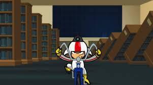 kick buttoski en bicicleta